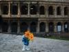 Il Puffo Fermin al Colosseo