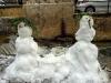 Pupazzi di neve alla sorgente