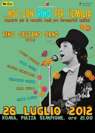 concerto rinogaetano band roma