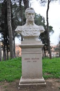 Omaggio a Simon Bolivar nel parco di Monte Sacro