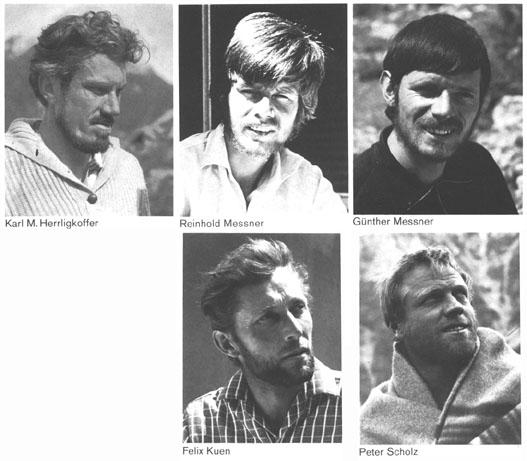 protagonisti della scalata al Nanga Parbat del 1970