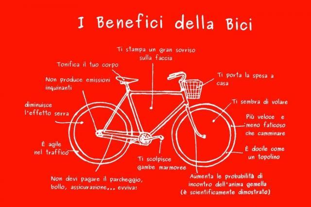 benefici della bici